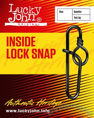 Застежка Lucky John INSIDE LOCK SNAP №4 - 1 уп.